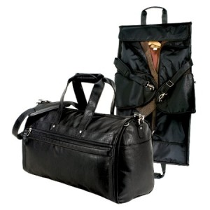 garment bag and duffel